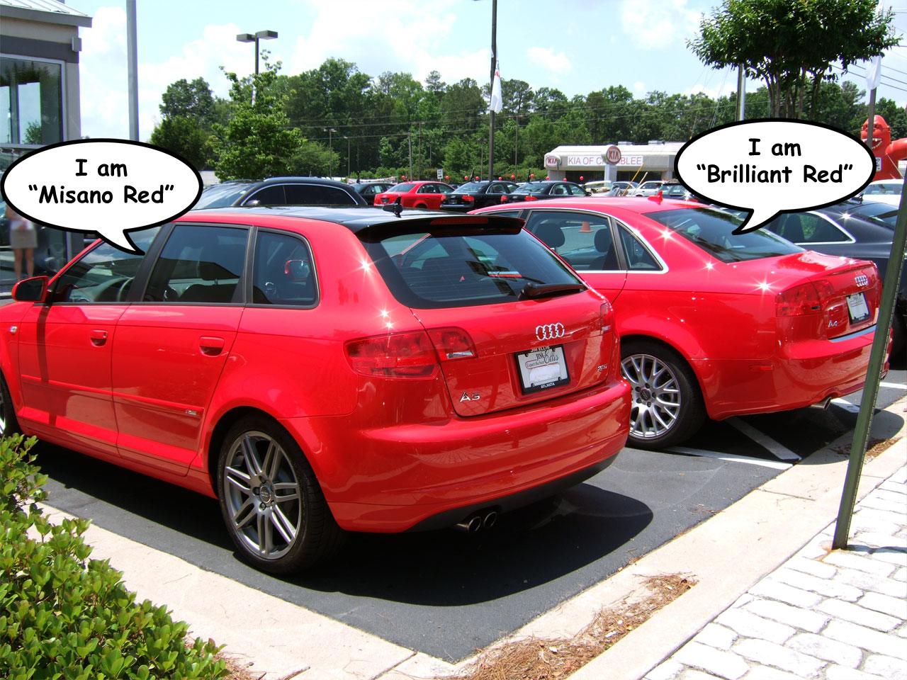 Authoritative Misano Red Vs Brilliant Red Comparison