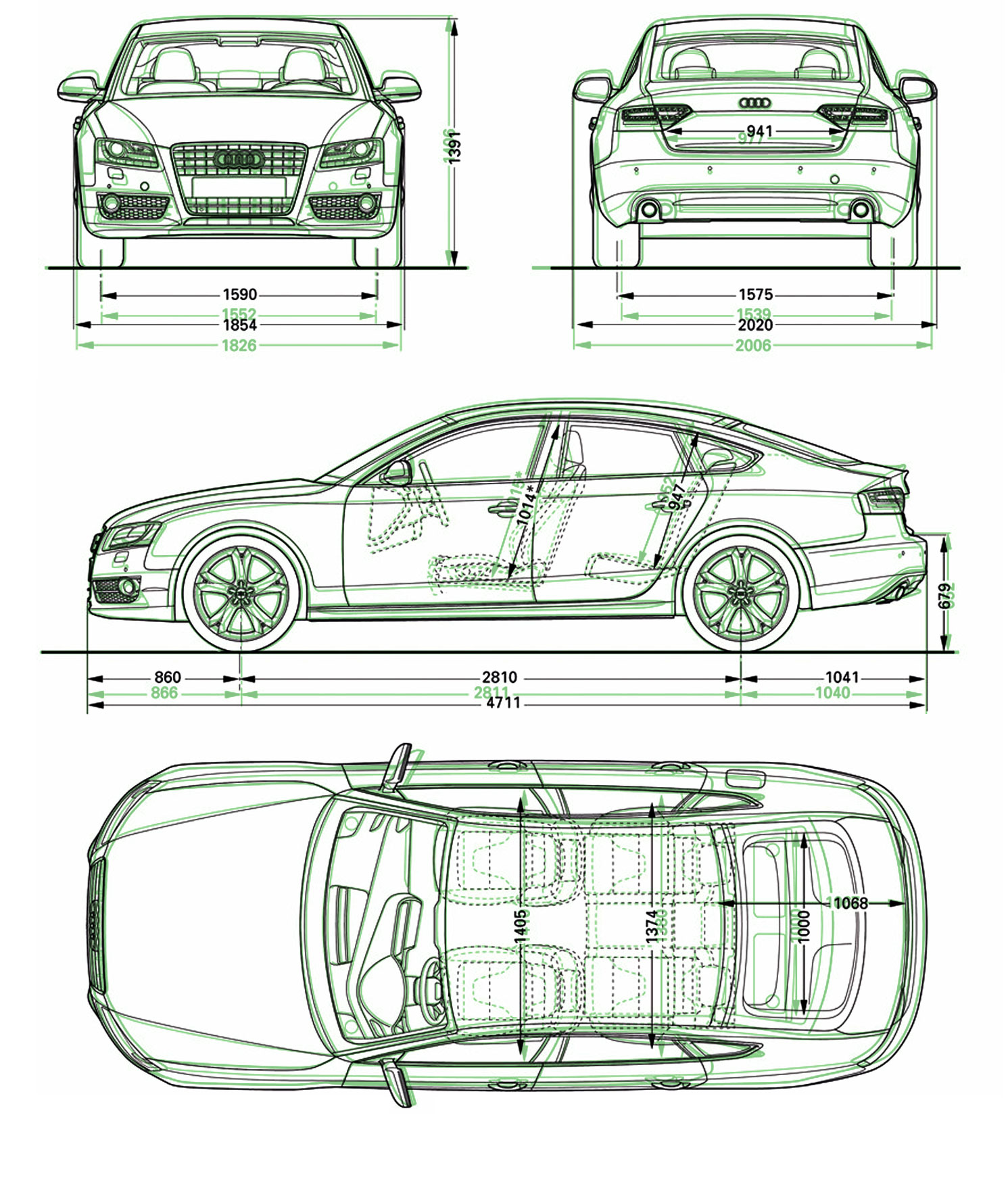 Car Orthographic View along with cars orthographic projection drawings